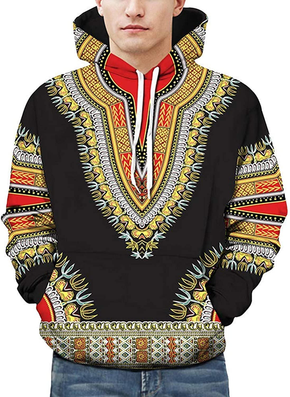 Comfortable Stylish Hoodies & Sweatshirts Mens Patterns Print Hoodies Fashion Hooded Sweatshirt Blouse Shirt Top (color   Black, Size   X-Large)