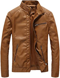 dc0640c035b Amazon.com  Yellows - Leather   Faux Leather   Jackets   Coats ...