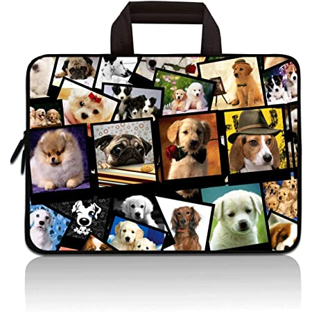 """14 14.1"""" 14.2"""" 15"""" 15.4"""" 15.6"""" inch Inch Laptop Sleeve Case Protective Bag with Outside Handle,Ultrabook Notebook Carrying Case Handbag Compatible with Toshiba HP Chromebook(Cute Dog)"""