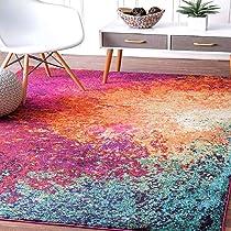 [LD] Status 5 x 7 Feet Multi Printed Vintage Persian Carpet Rug Runner For Bedroom/Living Area/Home with Anti Slip Backing