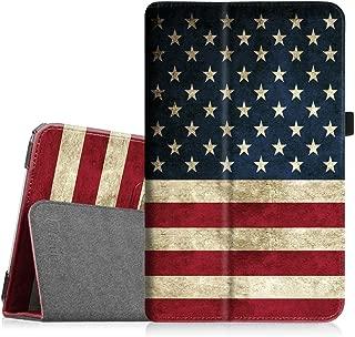 Fintie Folio Case for Samsung Galaxy Tab E 9.6 - Slim Fit Premium Vegan Leather Cover for Tab E/Tab E Nook 9.6-Inch Tablet (SM-T560/T561/T565 & SM-T567V Verizon 4G LTE Version), US Flag