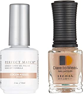 Lechat Perfect Match LED and UV Cured Gel Nail Polish - Cocoa Kisses, 0.5 oz.