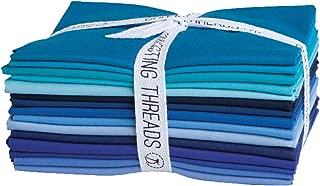 Connecting Threads Color Wheel Premium Precut Fabric Bundle Fat Quarters (Ocean Depths)