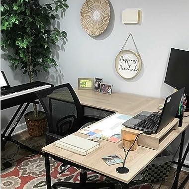 Hoorlang Bureau d'ordinateur (chêne)