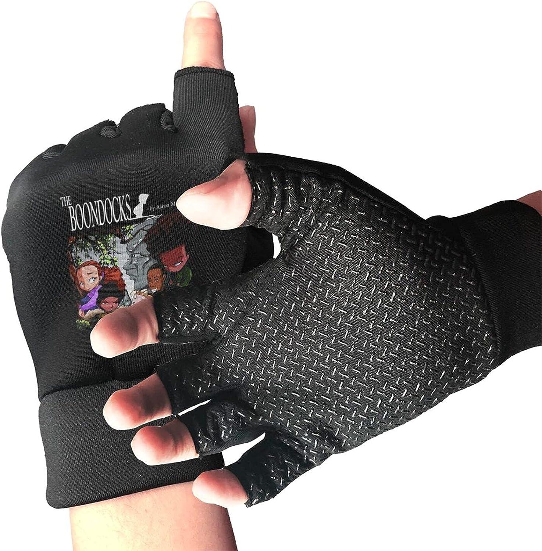The Boondocks Knitted Mittens Gloves Stretchy Warmer Fingerless Non Slip Gloves For Unisex