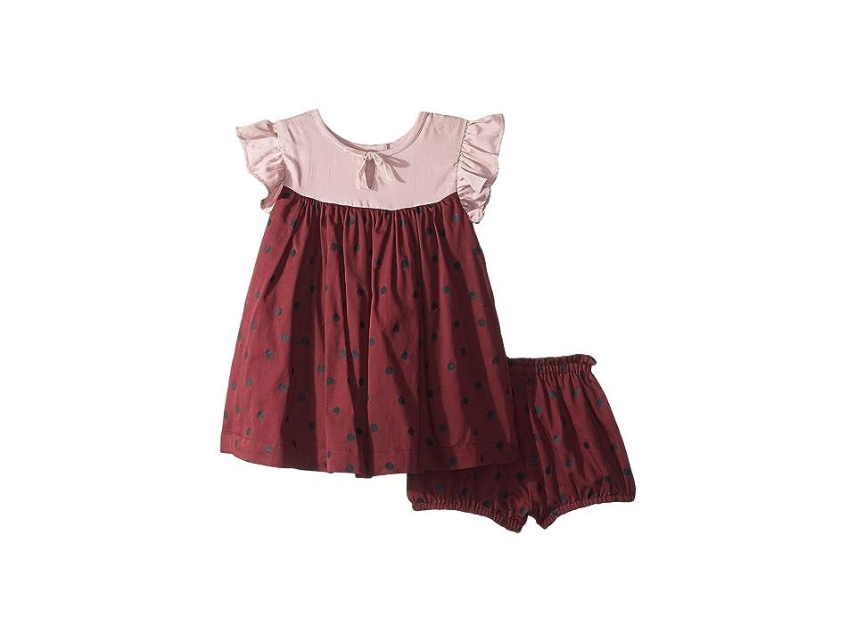 PEEK Fiore Dress (Infant) (Burgundy) Girl