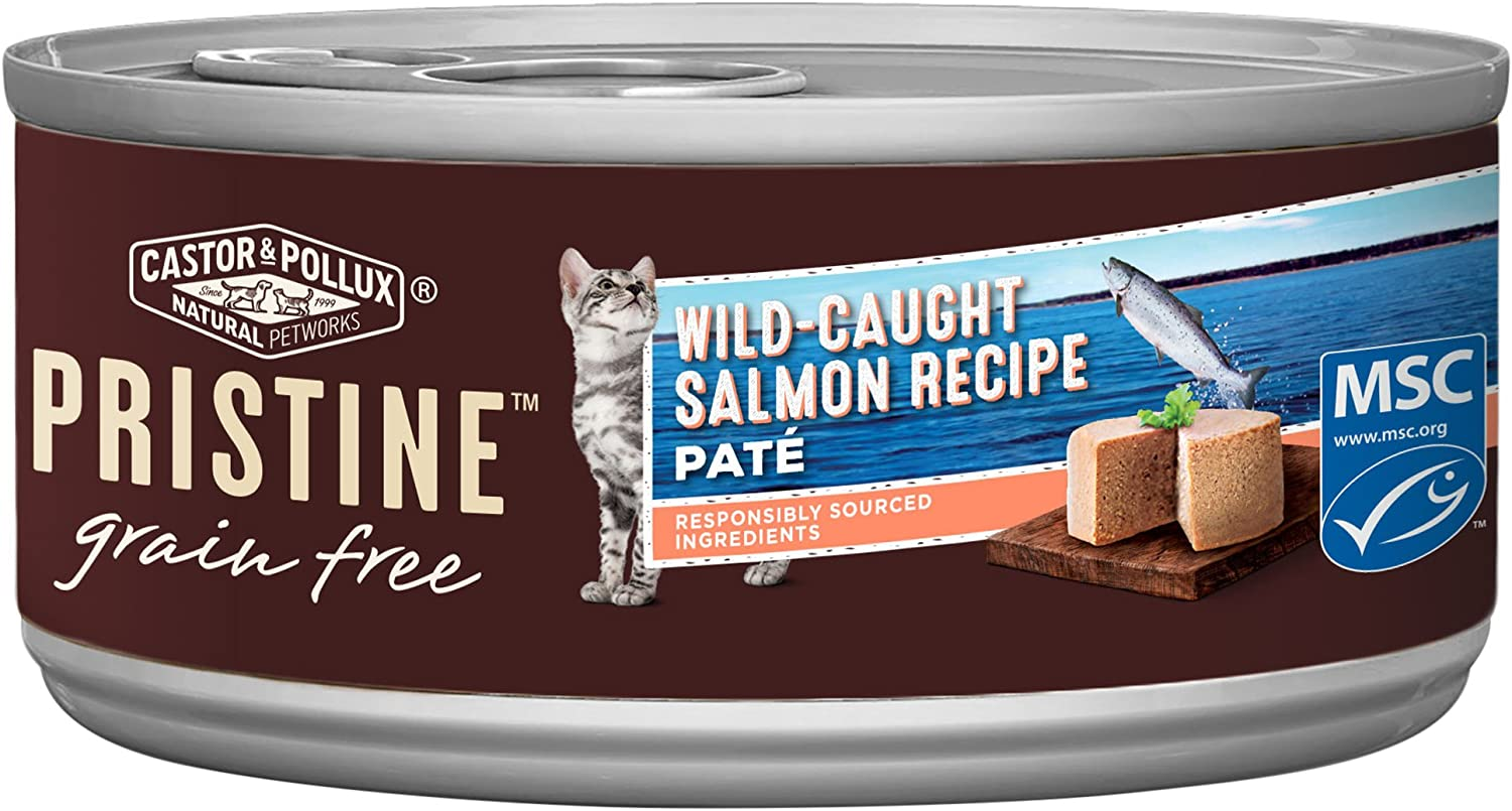 Castor & Pollux Pristine WildCaught or FreeRange Predein Wet Cat Food, 24 Count case