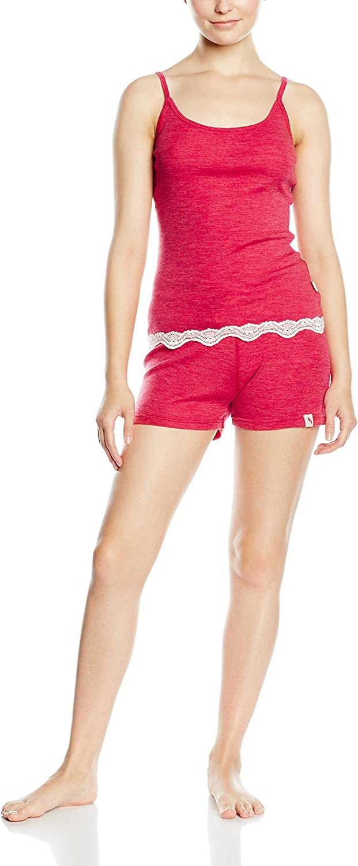Sashay Soft Womens Wool Base Layer Set Winter Short Sleeve Vest Shorts Thermal Set