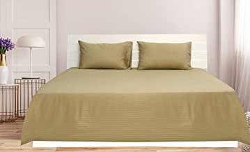 Bronze Queen Size 240 x 260 cm Hotel Linen Bedding Set - 3 Pieces