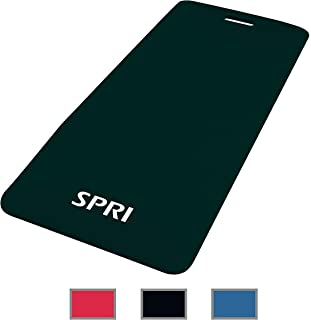 """SPRI Exercise Mat for Fitness, Yoga, Pilates, Stretching & Floor Exercises (48""""L x 20""""W x 1/2-Inch Thick)"""