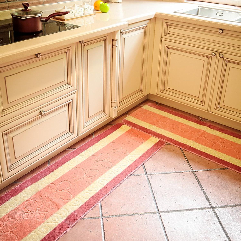 Bathroom non-slip mat Door foot mat Toilet toilet door suction water non-slip mat Kitchen long mat-J 45x180cm(18x71inch)