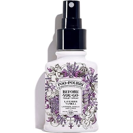 POO-POURRI MÉXICO LV-002-CB Before-You-Go Toilet Spray, Lavender Vanilla Scent, Blanco, 2 Oz
