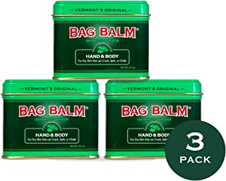 Vermont's Original Bag Balm Skin Moisturizer - Hand & Body - 8 oz Tin - 3 Pack