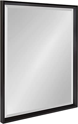 Amazon Com Kate And Laurel Whitley Classic Decorative Framed Beveled Wall Mirror 23 5x29 5 Black Home Kitchen