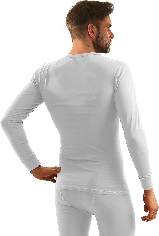 Sesto Senso/® Maglia Intima Uomo Lunga Cotone 95/% Termica Funzionale Biancheria Maniche Lunghe