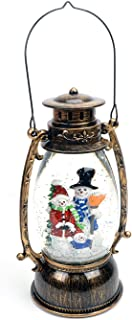 Evelyne GMT-10314 Snowman Family Christmas Snow Globes Collectibles - Battery Operated LED Lighted Swirling Glitter Water Lantern - Christmas Decorations for The Home (No Music)