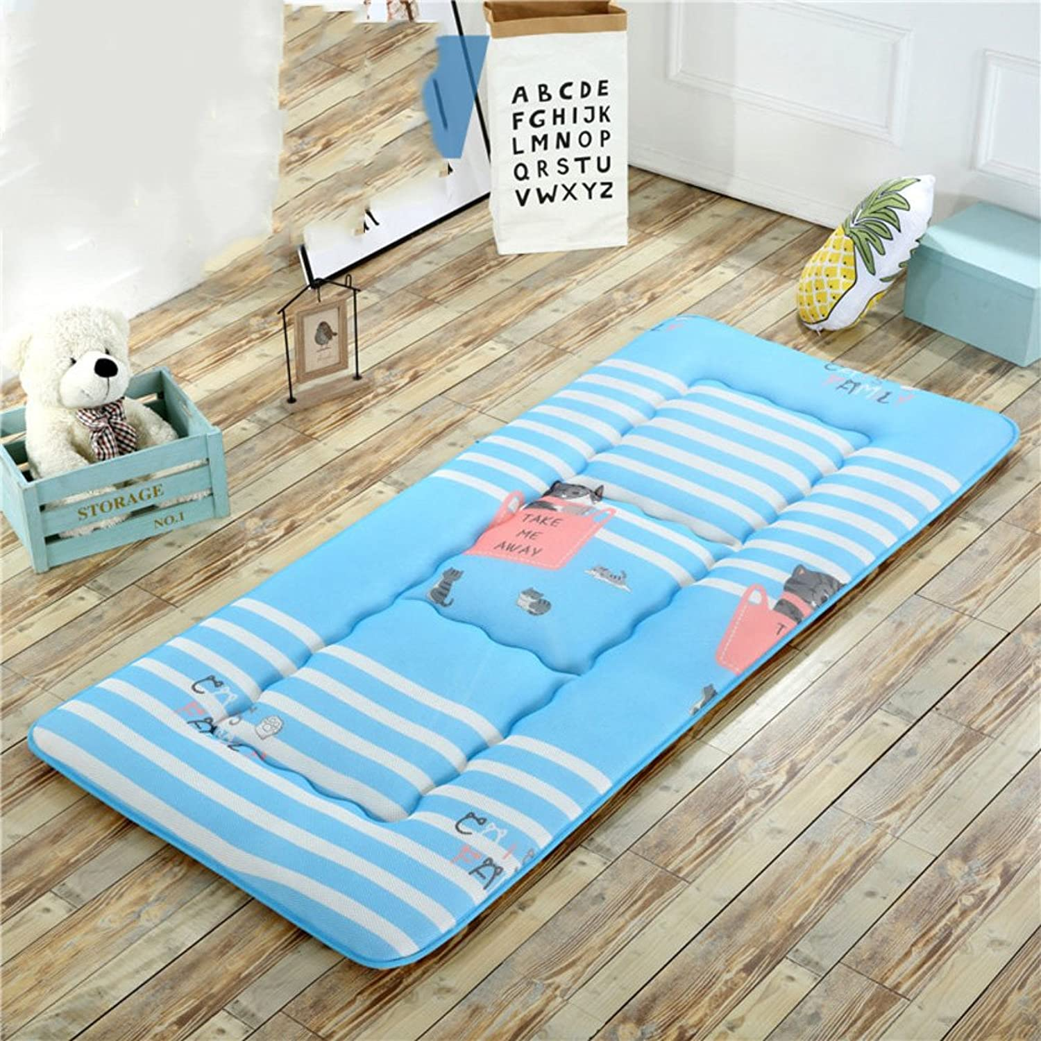 Collapsible Tatami mats Floor mat Cushion,Summer Breathable Pillow Mattress Student Dormitory Bedroom Foldable Sleeping pad Bed Predector-H 100x200cm(39x79inch)