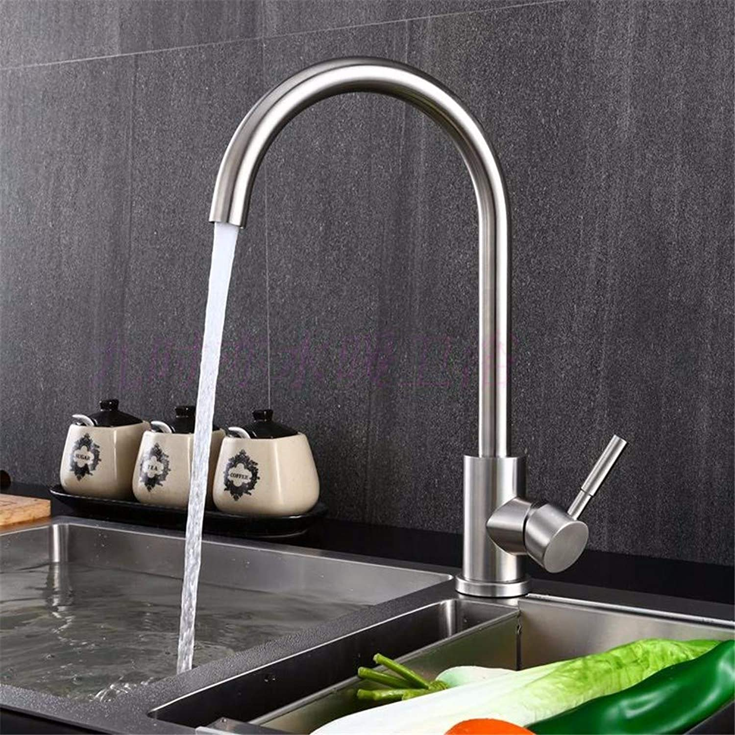 Pyty123-Faucet Faucet Kitchen Hot And Cold Sink Stainless Steel Dual-Use redatable Drinking Faucet, A