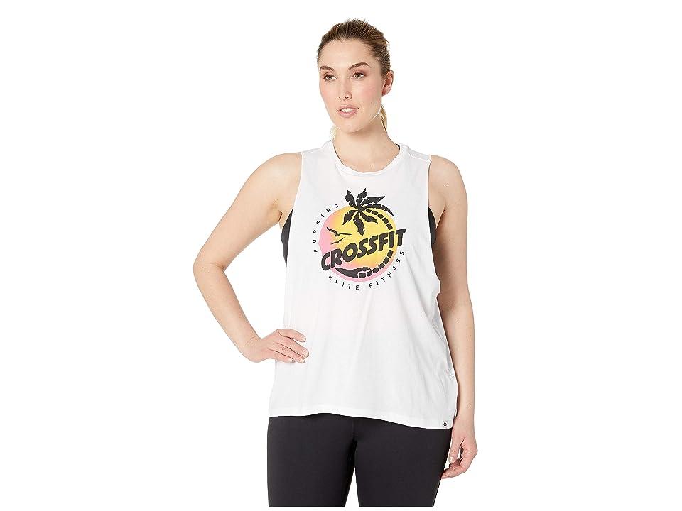 Reebok CrossFit Cali Inspired Muscle Tank Top (White) Women