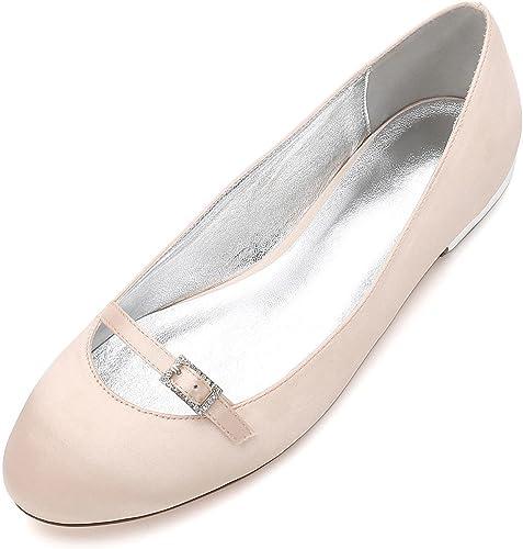 L@YC para damen 5049-21 Sandalias Nupciales de la Boda del Baile de Fin de Curso schuhe del Partido del talón de Las señoras del satén