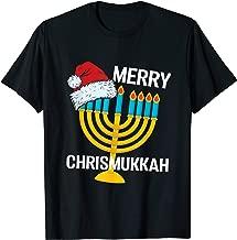 Merry Chrismukkah Funny Christmas Hanukkah Chanukiah Gift T-Shirt