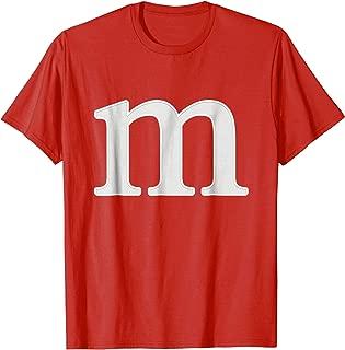 letter m shirt lower case alphabet t-shirt