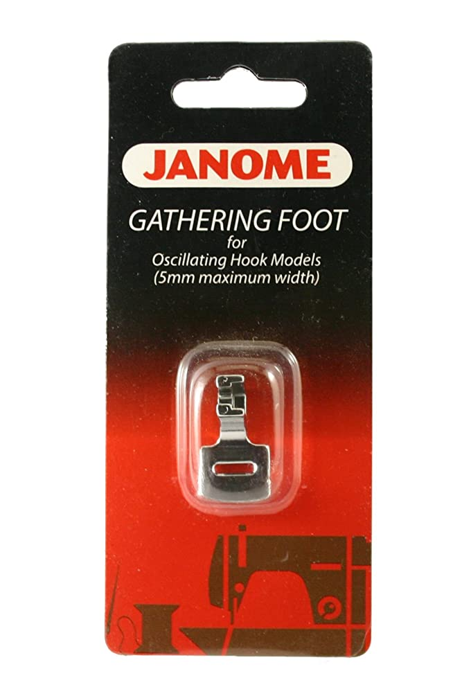 Janome Gathering Foot for Oscillating Hook Models (5mm Maximum Width)