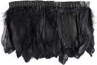 Surepromise 2M svart dansfjäder bälte fjäderborte band Federbesatz Federfrans party kostym dekor