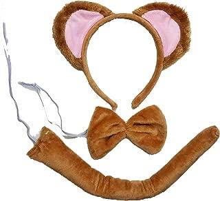 Kids Animal Costume Ears Headband Bowtie Tail Set