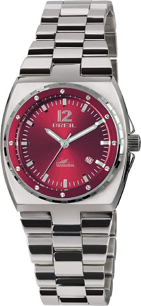 Breil orologio  donna manta sport quadrante rosso e bracciale in acciaio TW1544