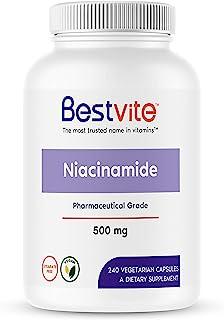 Niacinamide 500mg (240 Vegetarian Capsules) - No Stearates - Vegan - Gluten Free - Non GMO