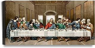 DECORARTS The Last Supper, Leonardo Da Vinci Classic Reproductions, Giclee Canvas Prints Wall Art for Home Décor, 24