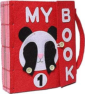 comprar comparacion Per Libros de Bricolaje Blandos de Material Montessori Tableros de Aprendizaje de Vestir y Conocer Objetos Libros de Brico...