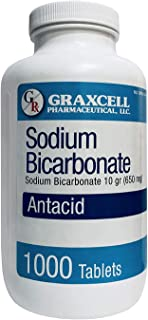 Graxcell Sodium Bicarbonate 650 Mg, White, 1000 Count