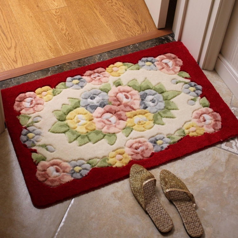 Door mat,Gate pad,Rug,European style,Anti-skidding,Kitchen,Strip pad,Doormat,Chunky,[hall],Bedroom foot mat living room-B 60x90cm(24x35inch)