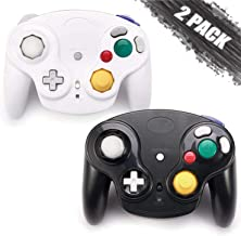 $35 » GALGO Wireless Gamecube Controllers, Classic Gamecube Wavebird Wireless wii Controller Remote Gamepad Joystick for Nintendo Gamecube Console, Compatible with Wii (Black and White)