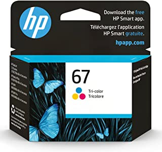 HP 67 | Ink Cartridge | Tri-color | Works with HP ENVY 6000 Series, HP ENVY Pro 6400 Series, HP DeskJet 1255, 2700 Series,...