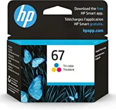 Original HP 67 Tri-color Ink Cartridge | Works with HP DeskJet 1255, 2700, 4100 Series, HP ENVY 6000, 6400 Series | Eligib...