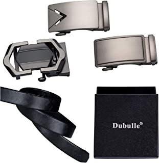 Dubulle Belt Gift Set for Men Ratchet Leather Belts with 3 Autoamtic Buckles Adjustable Valentine's Day/Christmas/Father's...