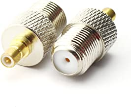 Maxmoral 2PCS F Female to SMB Male Connector RF Coax Coaxial Adapter