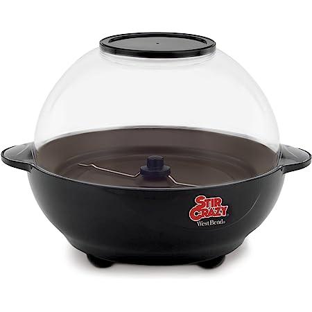 West Bend Popcorn Machine, Stir Crazy Black