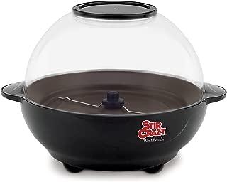 West Bend 82306 Popcorn Machine, Stir Crazy Black
