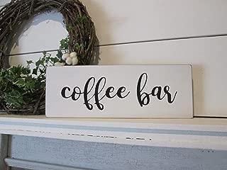 prz0vprz0v - Señal de Madera con Texto en inglés Coffee Bar For Your Farmhouse Kitchen Decor, Cartel rústico de Pared, Letrero de Pared, decoración del hogar