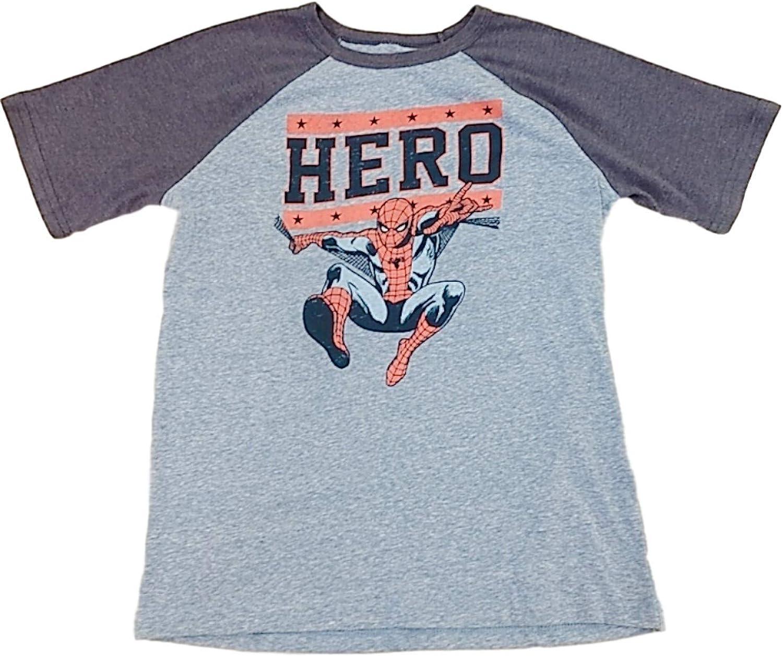 Boys Blue Spider-Man Hero T-Shirt Superhero Tee Shirt Spider Man