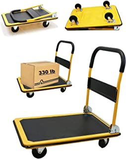Heavy Duty 330lb Folding Platform Cart Great for Use at Home Office Warehouse Shopping Super Market Grocery Foldable Handle Easy Storage Smart Choice for Your Business Wheel Carry Dolly