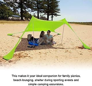 SEAAN Carpa de Playa Fácil de Instalar, al Aire Libre Refugio de Sol Camping Toldo Parasol con 4 Anclas de Arena, Capacidad para 3-4 Adultos, Refugios para Sol en la Playa o Acampar al Aire Libre