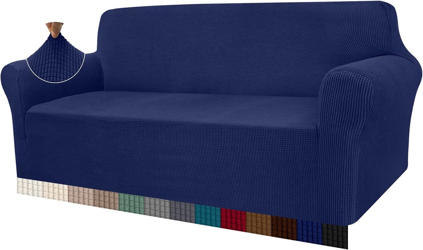 Granbest - Funda de sofá de Alta Elasticidad, diseño Moderno, Jacquard, para el salón, para Perros y Mascotas (4 plazas, Azul Marino)