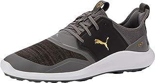 أحذية الجولف الرجالي من بوما، أسود فضي أبيض 01