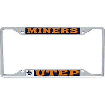 Desert Cactus The University of Texas at El Paso UTEP Miners NCAA Metal License Plate Frame for Front or Back of Car Officially Licensed Alumni