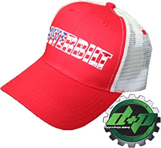 Diesel Power Plus Peterbilt Flag red White Blue mesh Summer Ball Cap hat  Truck semi Trucker 593812ae9d29